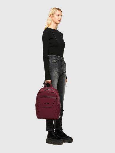 Backpack In Velvety Liquid Nylon