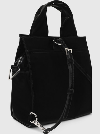 Convertible Handbag In Liquid Nylon