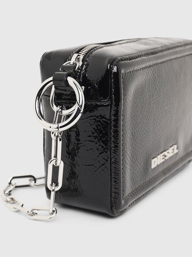 Boxy Cross-Body In Metallic Leather