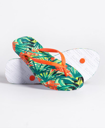 Super Sleek All Over Print Flip Flops