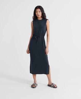 Desert Drawstring Midi Dress