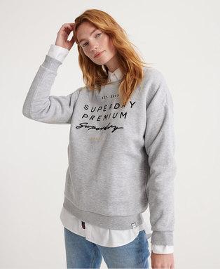 Applique Crew Sweatshirt