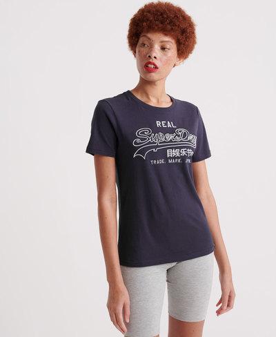 Vintage Logo Embroidery Outline T-Shirt