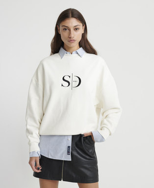 The Edit Slouchy Crew Neck Sweatshirt
