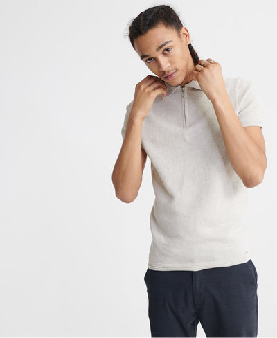 Edit Short Sleeved Knitted Polo Shirt