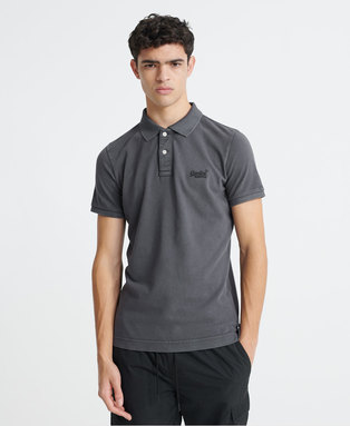 Organic Cotton Vintage Destroyed Pique Polo Shirt