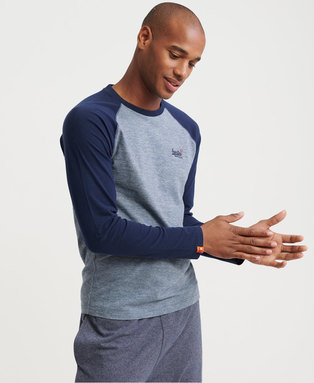 Organic Cotton Baseball Textured Long Sleeve Top