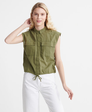 Sleeveless Military Shirt