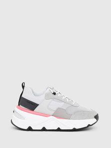 Chunky Sneakers In Nylon, Mesh And Suede