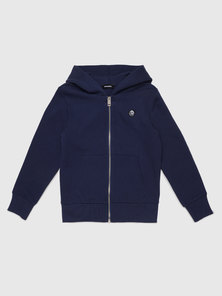 Zipped Hoodie With Mohawk Patch