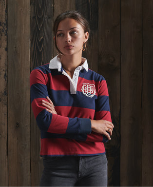 Boston Striped Rugby Top