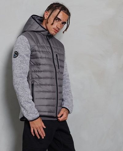 Storm Hybrid Zip Up Hooded Jacket