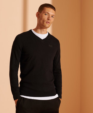Orange Label V-Neck Jumper