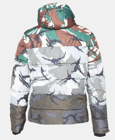 Camo Mix Sports Puffer Jacket