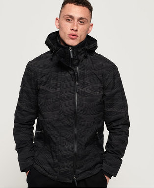 Hooded Arctic Print Pop Zip SD-Windcheater Jacket