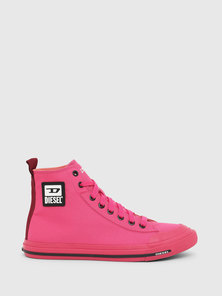 High-top Sneakers in Nylon with D Logo