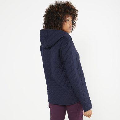 QUILTED TEDDY LINED JACKET