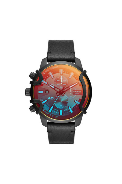 Chronograph Leather Watch