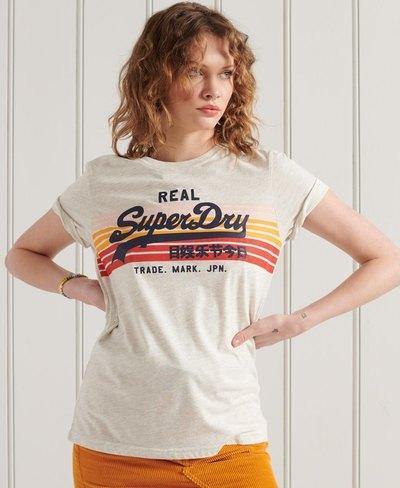 Vintage Logo Retro Rainbow T-Shirt