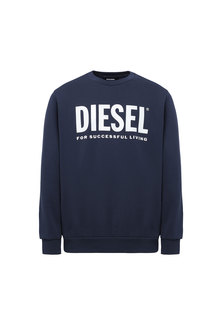 Logo sweatshirt in loopback cotton