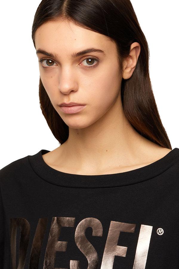 T-shirt dress with foil print