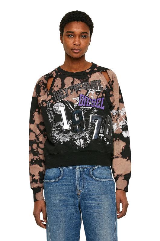 Cropped treated sweatshirt