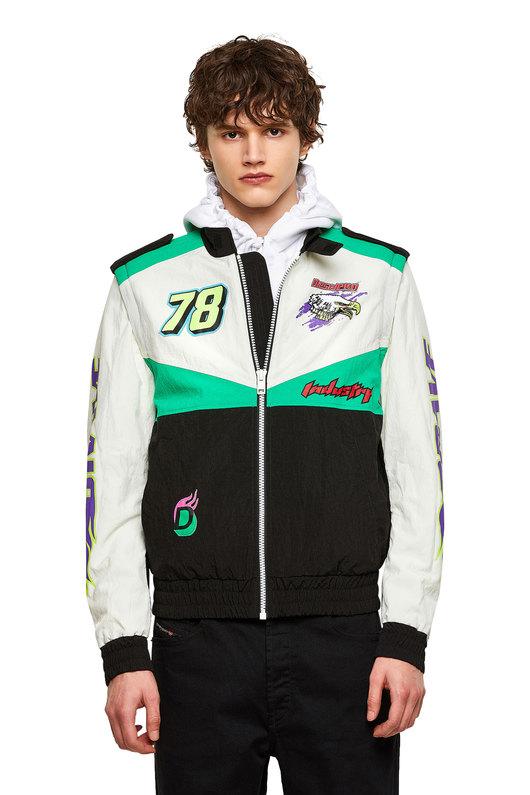 Convertible jacket in colour-block nylon