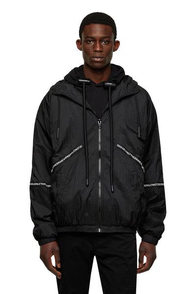 Tape-trimmed jacket in nylon