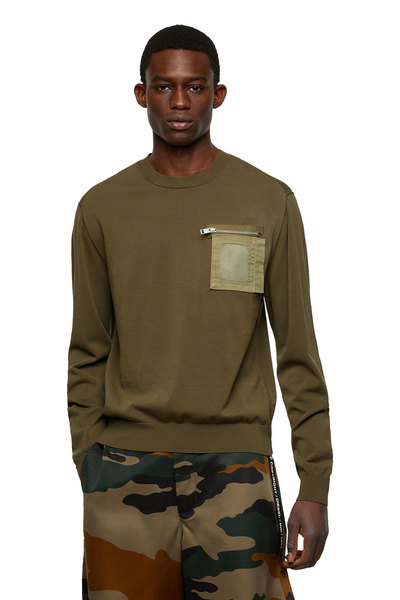Pullover with zip pocket
