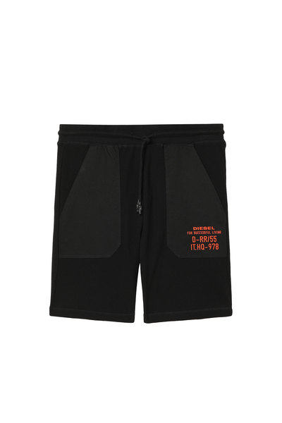 Waffle-knit shorts with embroidery