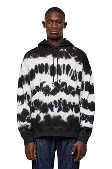 Tie-dye hoodie with reflective print