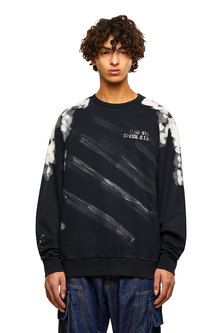 Sweatshirt with bleached effects
