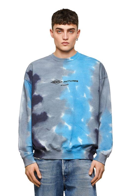 Sweatshirt with tricolour tie-dye