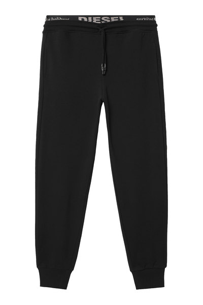 Sweatpants with double waistband