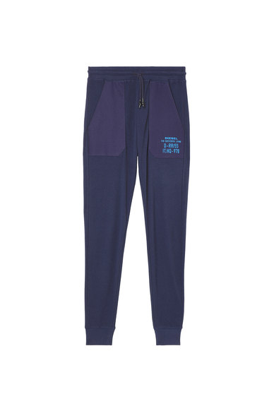Waffle-knit sweatpants with embroidery