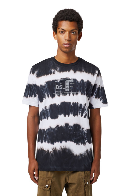 Tie-dye T-shirt with reflective print