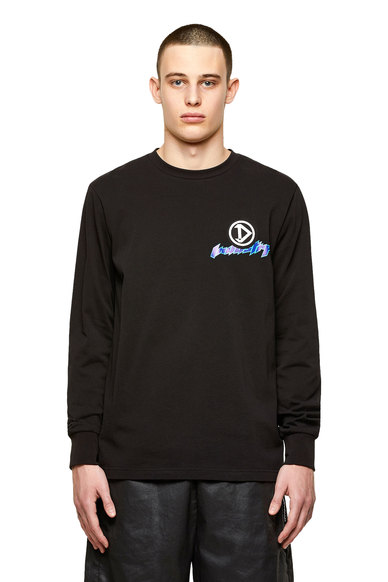 Long-sleeve T-shirt with racer prints