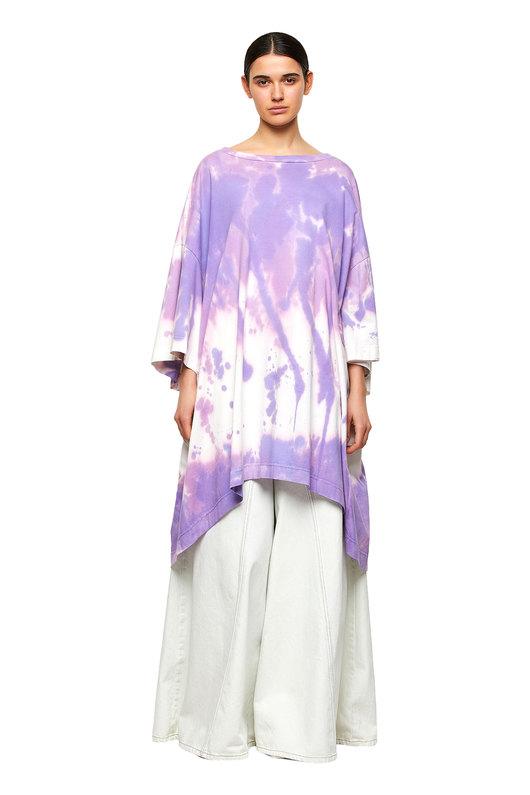 Oversized T-shirt dress with tie-dye