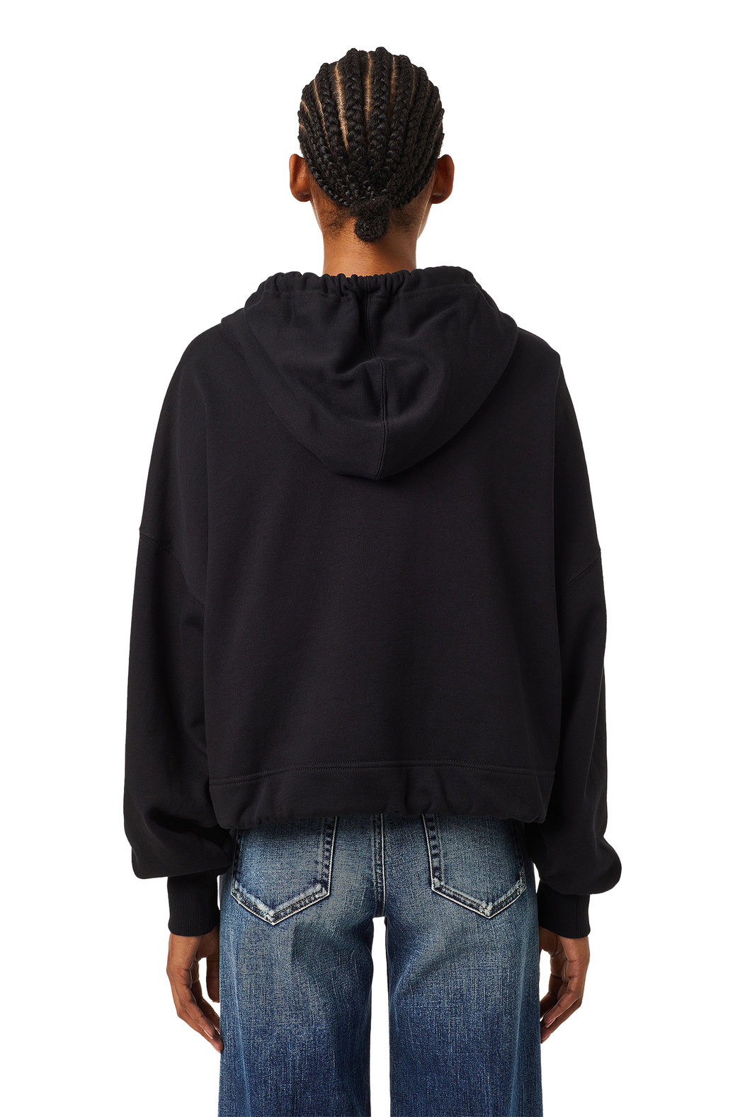 Cropped hoodie with contrast detail