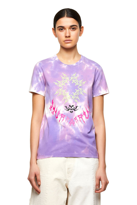 Tie-dye T-shirt with embroidery