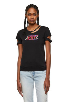 Cut-out T-shirt with DSL logo