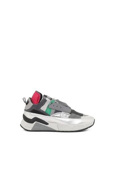 Slip-on sneakers with metallic trims