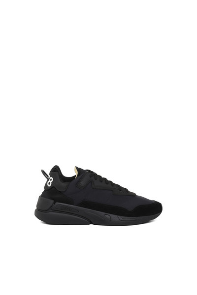 Monochrome Sneakers In Nylon And Suede