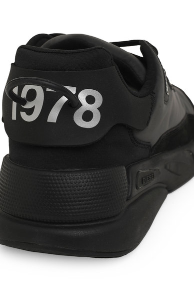 Sneakers in reflective nylon and suede