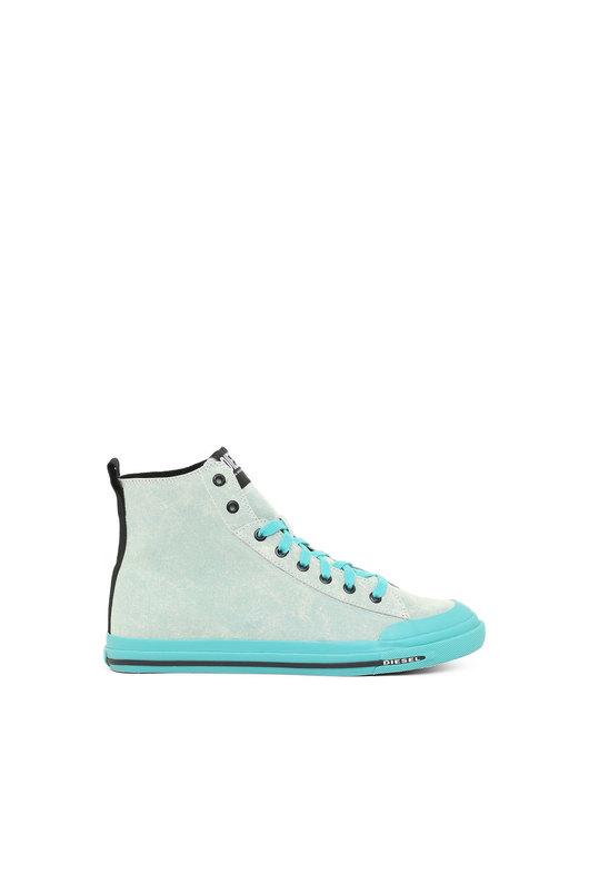 High-top sneakers in tie-dye canvas