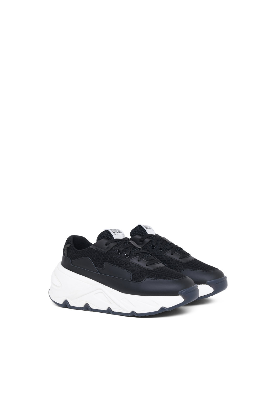 Chunky sneakers in organza and mesh