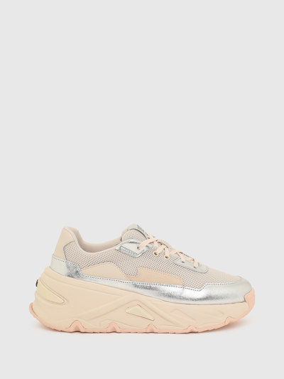 Chunky sneakers with metallic trims