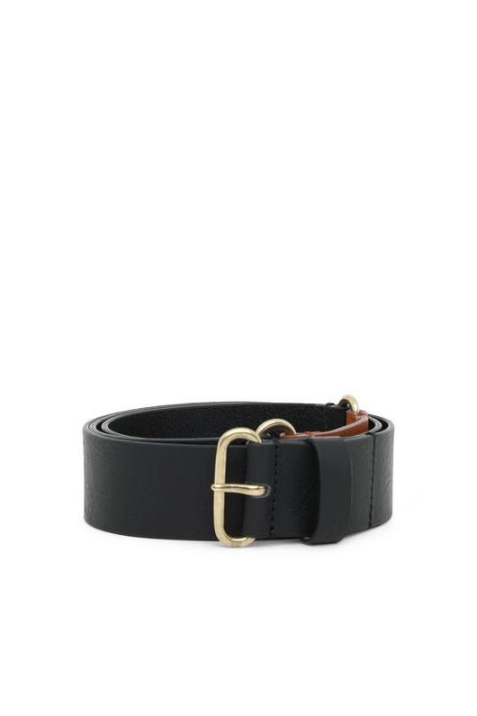 Leather belt with contrast insert