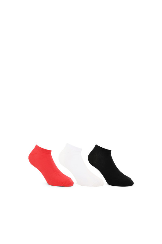 D-pattern low-cut socks - 3 Pack