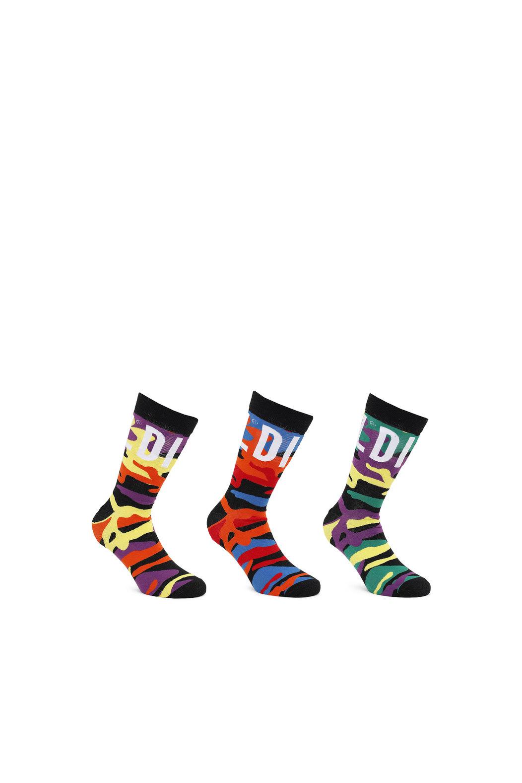 Pride rainbow-camo socks - 3 Pack